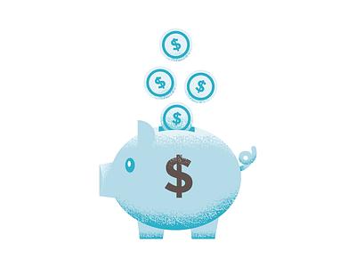 This little piggy went to the bank. money bank piggybank piggy mark icon symbol mark graphic illustration design design icon illustrations illustration