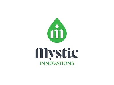 Mystic Innovations brand identity brand design device cbd oil cbd insignia typography mark icon symbol brand vector branding logo mark icon graphic