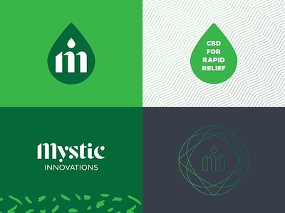 Mystic Innovations Patterning pattern device cbd oil cbd typography mark icon symbol brand vector branding logo mark icon graphic design