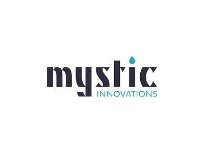 Mystic Innovations lettering insignia typography mark icon symbol brand cbd oil cbd illustration vector branding logo mark icon graphic design