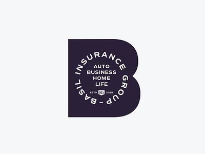 Basil Insurance Group typography mark icon symbol brand vector branding logo mark icon graphic design