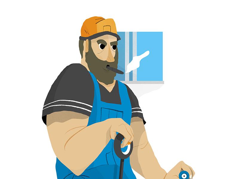 Fisherman drawing illustration photoshop person fisherman character design art design editorial character