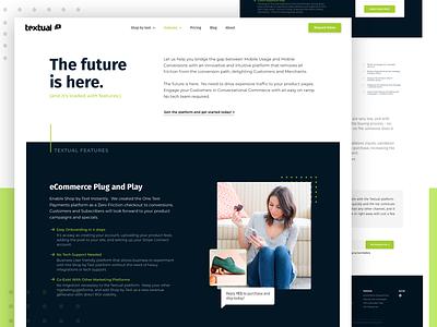 Textual brand branding web app tulsa oklahoma clean ux ui design