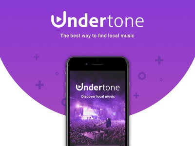 Undertone real mockup mock flat local logo app music undertone