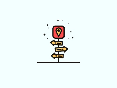 Lost design location line icon illustration gps map directions