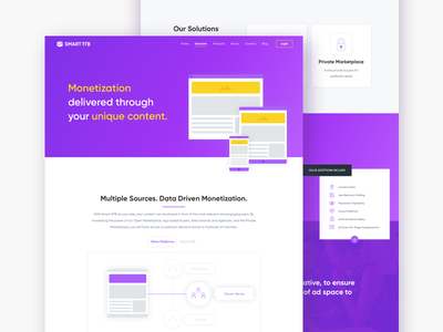Publishers mockup product design mobile marketing ads clean interface ux ui web page publisher