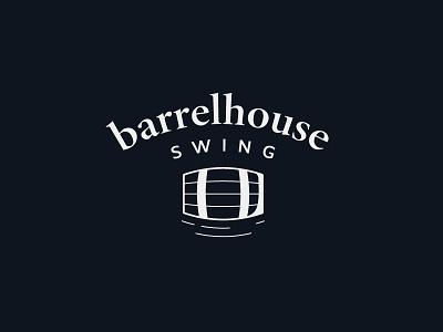 Barrelhouse classy retro vintage branding logo swing barrelhouse