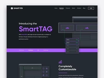 SmartTAG advertise user experience design illustration website ux ui web
