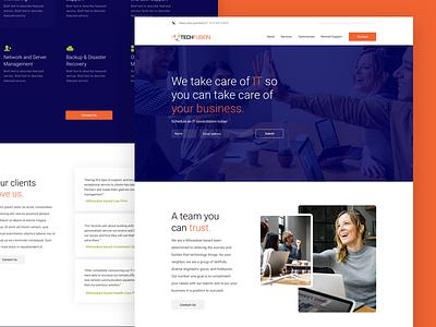 IT Site oklahoma wireframe site one page homepage website tech visual design freelancer freelance web brand tulsa clean ux ui design