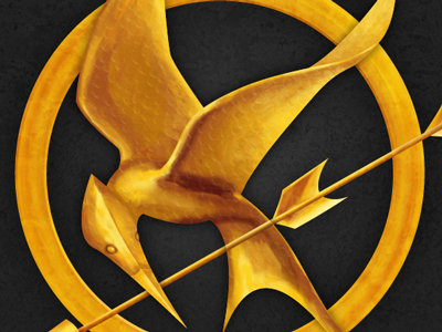 The Hunger Games #2 hunger games mockingjay pin gold arrow