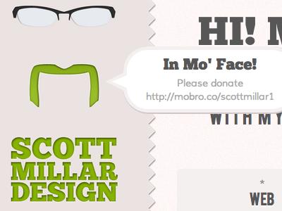 Movember Hover movember portfolio handlebar moustache
