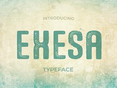Exesa Distressed Font display font creative market fonts typography typeface font design font grunge font distressed font