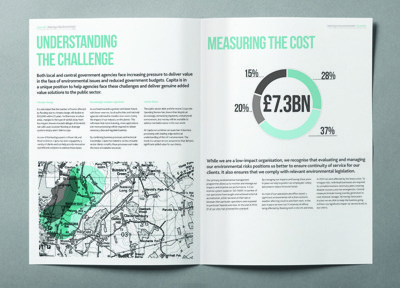 Environmental Study typography layout editorial brochure type