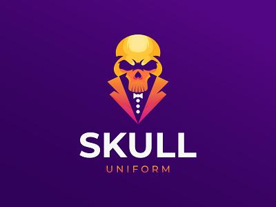 Skull Uniform Symbol skull uniform uniform skulls skull 3d symbol logo design abstract brand graphic design ui design logotype logo mark modern illustraion business logo branding