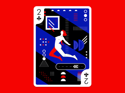 Playing Arts - Future futuristic turkey digital color design vector art illustration future clubs playing cards playing arts