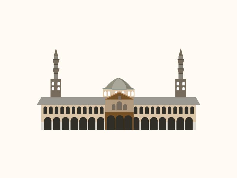 landmarks project - damascus umayyad mosque by Zeynep Kınlı