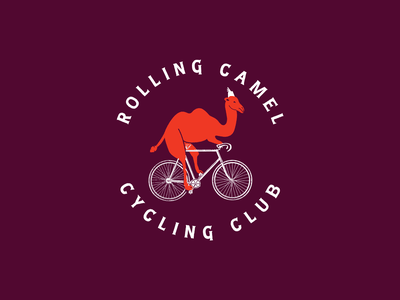 Rolling Camel Cycling Club 02 logo design cycling club mountain bike cycling biking camel vector illustration