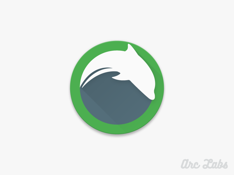 Dolphin Browser android premium icon vibrant google dolphin browser material design design material