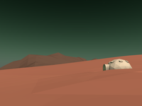 Working on low poly environments for Google Cardboard