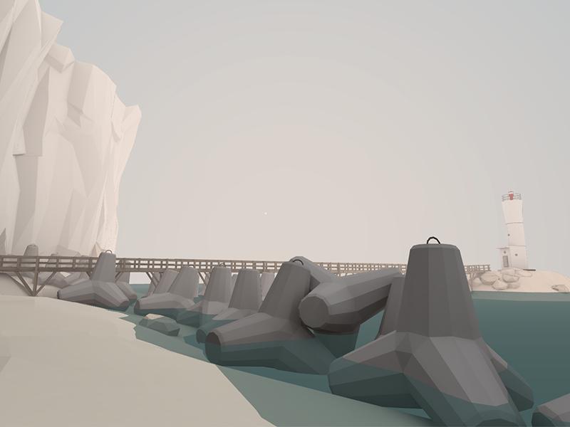 Screenshot from my VR app cardboard google lowpoly prototype dev vr unity