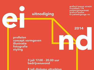 Invitation School Exhibition exhibition school glu grafisch lyceum invitation invite ijsthee grafisch lyceum utrecht utrecht print avenir