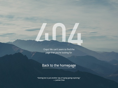 DailyUI #008 404 page 404 page 404 ux ijsthee page landing challenge daily dailyui landingpage ui