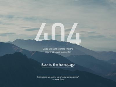 DailyUI #008 404 page