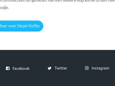 Social Footer hezel koffie font awesome social social media social icons footer