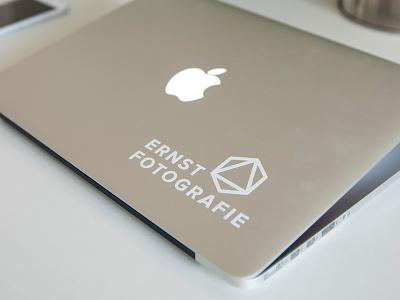 Vinyl cut Stickers vinyl cut vinyl cut stickers logo identity identity design logo design apple macbook ernst fotografie stickermule stickers logo