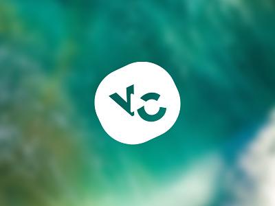 Logo mark logo mark play button video play vc mark logo