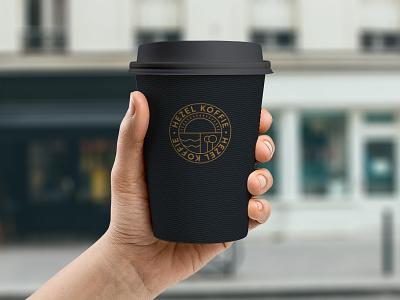 Mockups on mockups on mockups on mockups coffee cup logo mark logo coffee bar hezel koffie coffee mockup