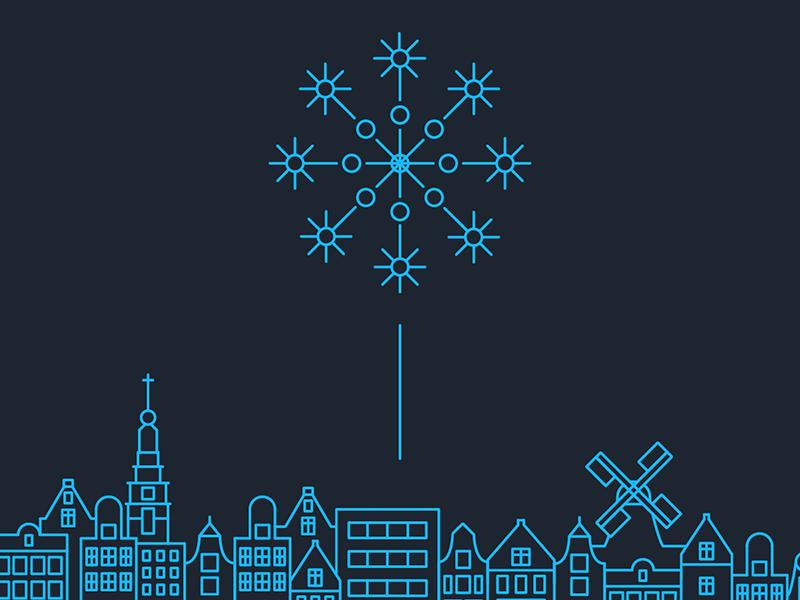 Amsterdam Skyline on New Years Eve by Thomas Meijer on Dribbble