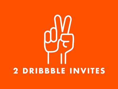2 Dribbble invites ijsthee illustration dribbble invites invite
