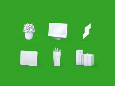 Interior icons flowers green objects suggesters ui web icons oli 3d interior