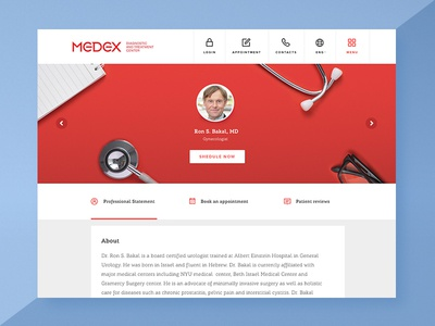 Doctor's profile for medical service