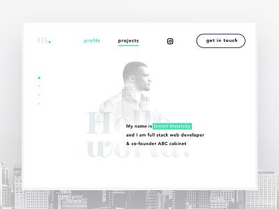 Website for dev mate devmate website portfolio city dark white developer blog