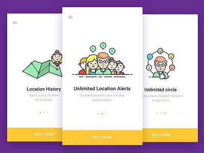 Illustration for pro account  geozilla fancy android ios screens visuals account pro app illustation