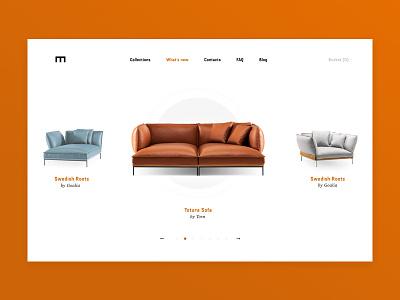 E-commerce for sofas design visual lather ux ui web sofa e-commerce