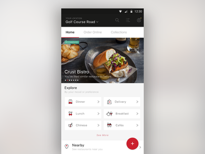 Rebound_New Layout Zomato collections order online cafes chinese breakfast lunch delivery dinner food app zomato