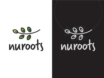 Nuroots Branding earth logo branding pulses farming nuroots organic