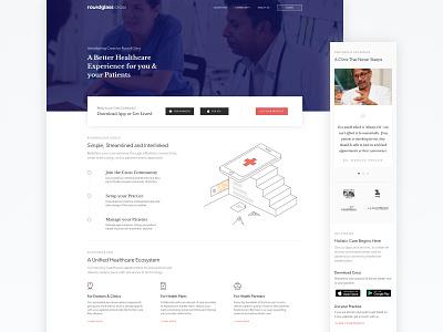 Cross Website v3.0 clinic hospital patient cross roundglass care provider doctors healthcare medical
