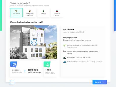 Harvey • Web Design bulder estate house monopoly gaming game website design website french clean gradient webdesign startup interface form design form flat ui
