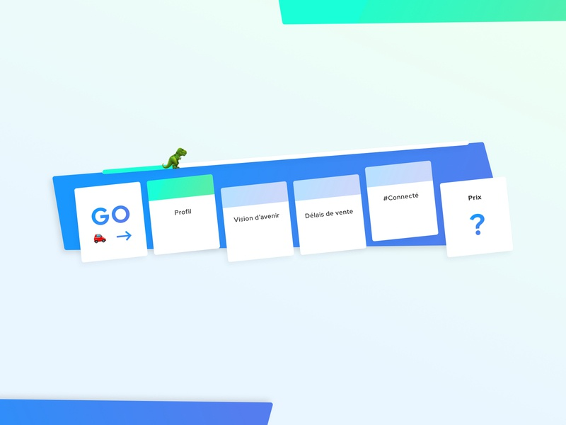 Harvey • Estate Web Design game gaming monopoly roadmap road sketch form startup design french gradient blue webdesign clean flat ui