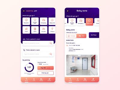 Hospital App interface mobile gradient hospital ui ux startup design app application