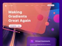 GradientMe webapp landing flat interface ux vector branding dayli gradient webdesign clean ui