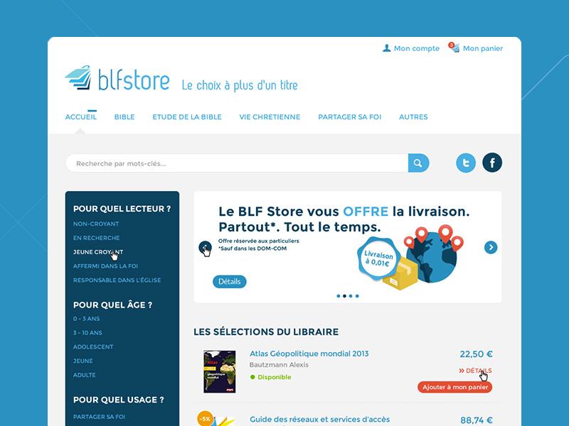 Blf store webdesign