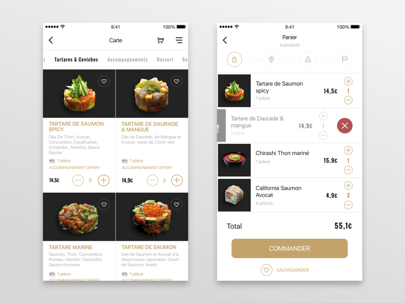 SushiShop - App redesign store app mobile fish food flat clean japan shop ecommerce sushi