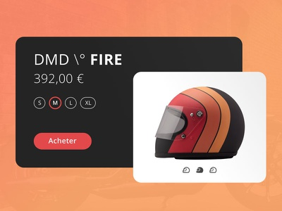 Helmet DMD motorbike color ecommerce red dayli ui moto