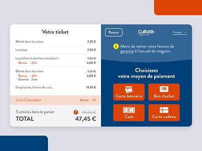 Self checkout store app checkout ecommerce mobile clean webdesign app flat ui sale