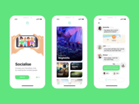Friendship Circle App UI